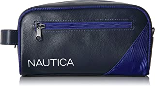 Nautica Men's Top Zip Travel Kit Toiletry Bag Organizer