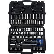 AmazonBasics Mechanic Socket Tool Kit Set With Case - Set of 201