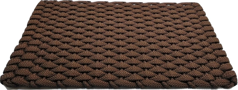 Rockport Rope Doormats 2438202 Indoor & Outdoor Doormats, 24  x 38 , Brown