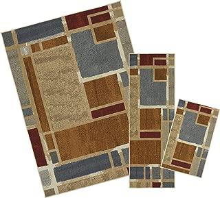Mohawk Home Soho Regnar Geometric Squares Printed Area Rug Set, Set Contains: 1'6x2'6, 1'8x5' and 5'x7'
