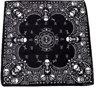 100% Cotton Double Sided Print Bandana Handkerchief Head Wrap