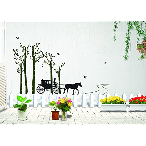 Oren Empower Love Carriage in The Forest Wall Sticker (150 cm x 90 cm)