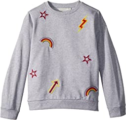 Stella McCartney Kids - Betty Sweatshirt w/ Rainbow and Arrow Patches (Toddler/Little Kids/Big Kids)