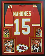 Patrick Mahomes Kansas City Chiefs Autograph Signed Custom Framed Jersey RED Suede Matted JSA Witnessed Certified