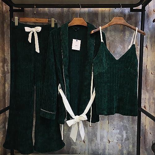 XBR trois séries de trois pièces de tricot de coton en duvet doux confort ameubleHommest de maison la taille des pyjamas