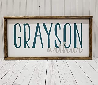 Nursery Name Sign, 3D or painted First and Middle names, boy or girl room decor, Farmhouse sign, rustic decor, fixer upper style