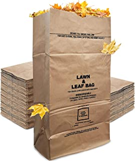 Stock Your Home Eco-Friendly 30 Gallon Kraft Leaf Bag - 10 Count - Heavy Duty Large Paper Trash Bags - Tear Resistant Yard...