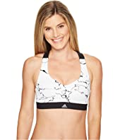 adidas - Committed Chill Marble Print Bra