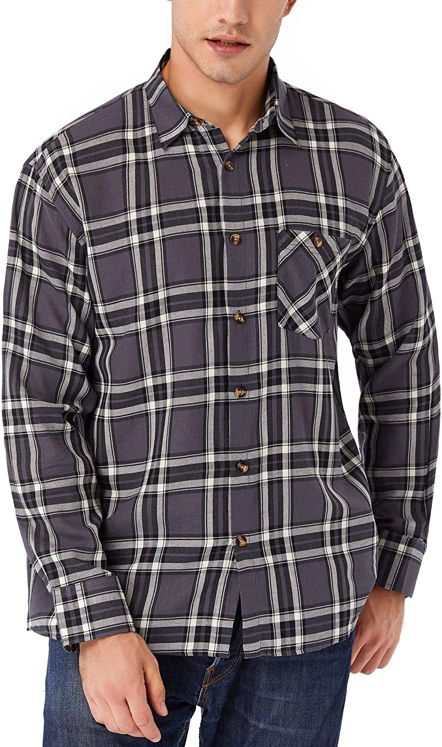 TAPULCO Men's specialty Rapid rise shop Long Sleeve Plaid Casu Cotton Fit Standard Checked