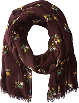 COACH All Over Rose Buddies Oblong Scarf