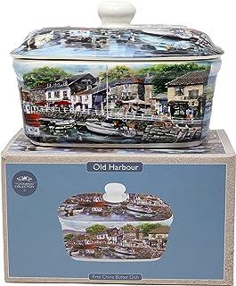 Old Harbour design fint porslin keramisk smör matthållare