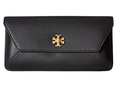 Tory Burch Kira Envelope Clutch (Black) Clutch Handbags