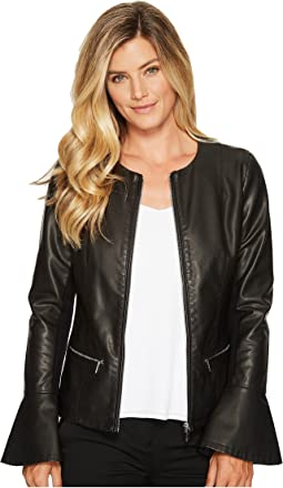 Calvin Klein - Center Zip Jacket with Flare Sleeve