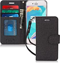 FYY iPhone 6S Plus Case, iPhone 6 Plus Case, PU Leather Wallet Case, [Kickstand Feature] Flip Folio Case Cover with [Card Slots] and [Note Pockets] for iPhone 6S/S Plus Black