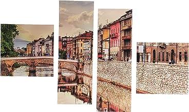 لوحة فنية جدارية لديكور المنزل ,لوحات مطبوعة بدون اطار ,4 قطع ,B1006007