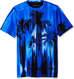 Men's Single Mercerized Cotton Jersey Hawaiian Print T-Shirt