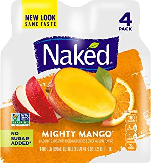 Naked Juice Mighty Mango, 10 Fluid Ounce, Pack of 4