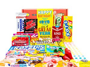 Woodstock Candy ~ 1978 43rd Birthday Gift Box Nostalgic Retro Candy Assortment from Childhood for 43 Year Old Man or Woman Born 1978 Jr