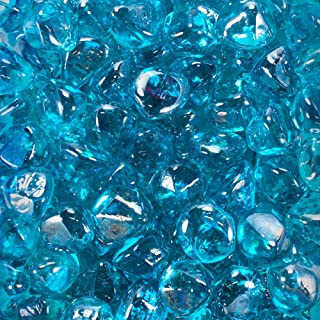Celestial Fire Glass Diamonds - Tropical Blue Luster | 10 Pound Jar