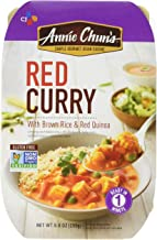 Annie Chun's Red Curry with Brown Rice & Red Quinoa, Non-GMO Gluten-Free Ready Meal, 9 Ounce, Pack of 6