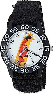 Disney WDS000568 - Reloj de Cuarzo para niño de 5 m de plástico y Nailon, Color Negro