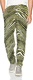 Zubaz Men's Standard Classic Zebra Printed Athletic Lounge Pants Small Multi