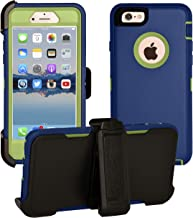 AlphaCell Cover Compatible with iPhone 6 Plus / 6S Plus (ONLY)   2-in-1 Screen Protector & Holster Case   Full Body Military Grade Protection with Carrying Belt Clip   Shock-Proof Protective