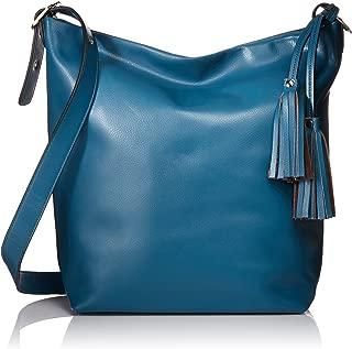 Donna Bella Designs Olivia Leather Shoulder Bag, Blue