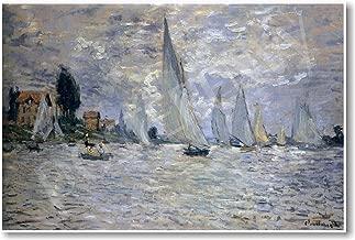 Boats Regatta at Argenteuil 1874 - Claude Monet - Art Print