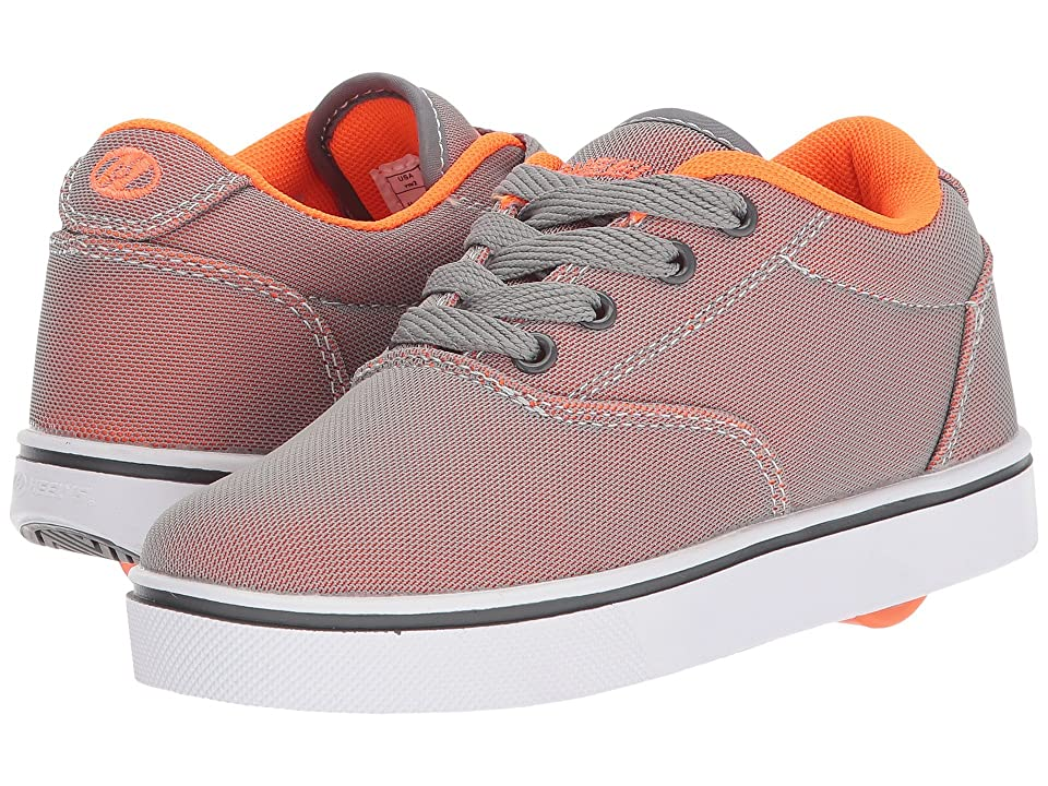 Heelys Launch (Little Kid/Big Kid/Adult) (Charcoal/Orange Super Mesh) Boys Shoes