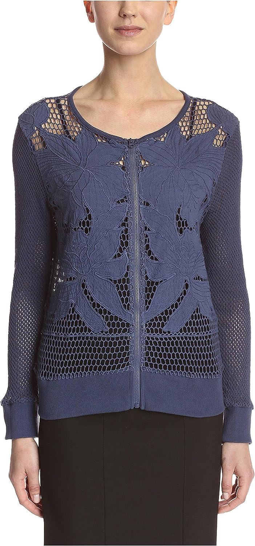Bigio Women's Zip Front Cardigan