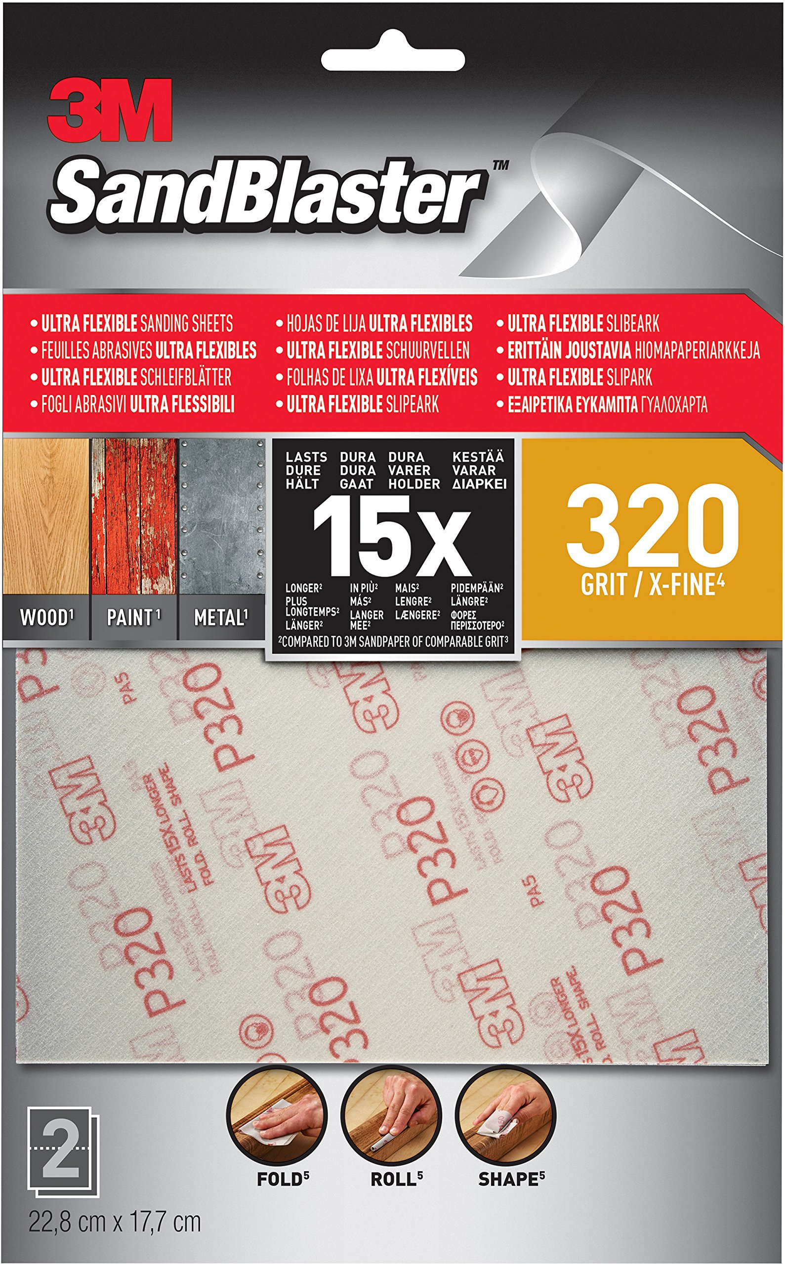 25MM X 50MT ABRASIVE CLOTH FLEXI BACKED ROLL 320 GRIT