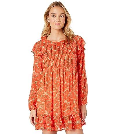 Free People These Dreams Mini Dress (Orange Combo) Women