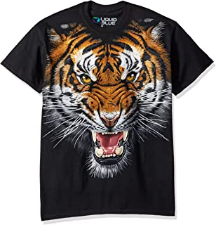 Liquid Blue Men's Tiger Face T-Shirt