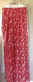 Lucknow Chikankari Red Dupatta/heavy embroidery/Embroidery DESIGN VARY