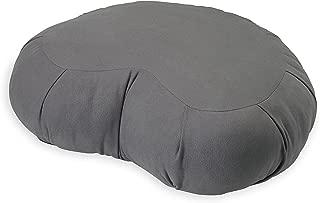 Gaiam Meditation Cushion Crescent Zafu Style Yoga Pillow