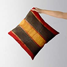 Decorative Pillow Covers -Patchwork Stripes with Trim,Throw Cushion Cover Polyester Multicolored 12x12 inch (30x30 cm),Cov...