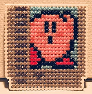 NES Cartridge Kirby Cross Stitched Magnet