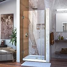 DreamLine Unidoor 31-32 in. W x 72 in. H Frameless Hinged Shower Door in Brushed Nickel, SHDR-20317210-04