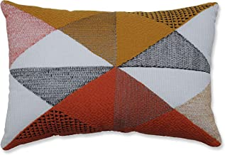 Pillow Perfect Indoor Triangular Diamond Orange Throw Pillow, 18.5 X 11.5 X 5, Grey
