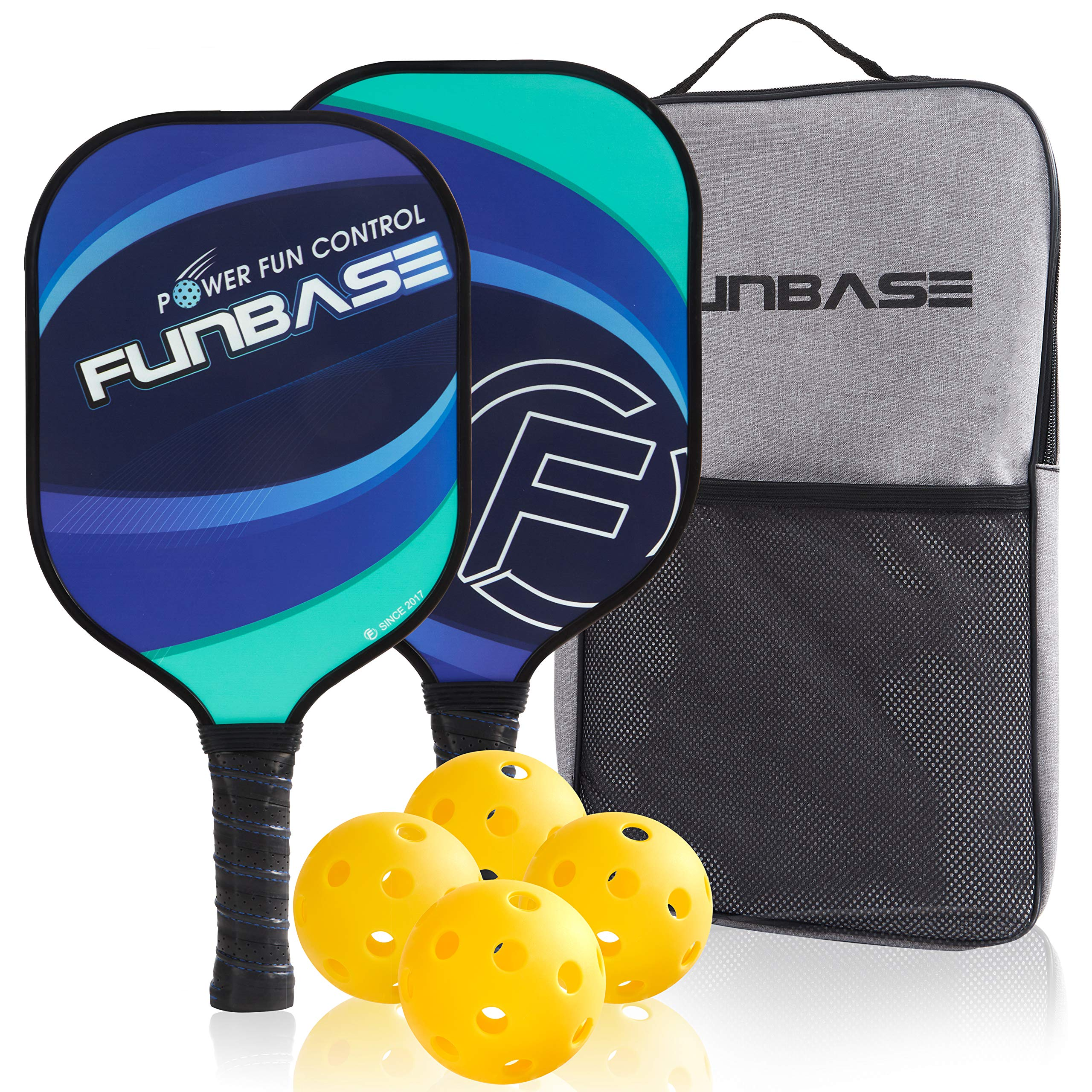 FunBase Pro Graphite Pickleball Paddles Set of 2 Racke -18Y4