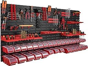 178 x 78 cm wandrek, 30 opbergbakken, deksel, gereedschapshouder, stapelboxen, werkplaats, werkbank