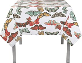 Now Designs Tablecloth, 60 by 108-Inch, Flutter Print