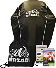 Nuzari Waterproof Polyester Outdoor Motorcycle Cover, Extra Large - Black