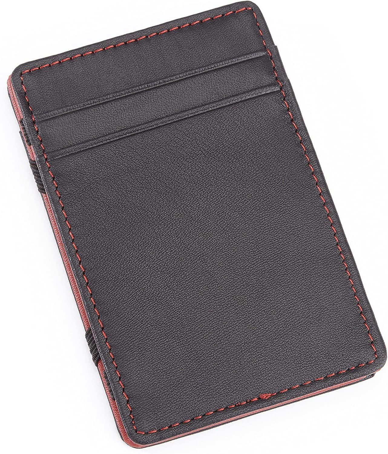 Royce Leather Magic Wallet in Leather, Black and Red, One Size