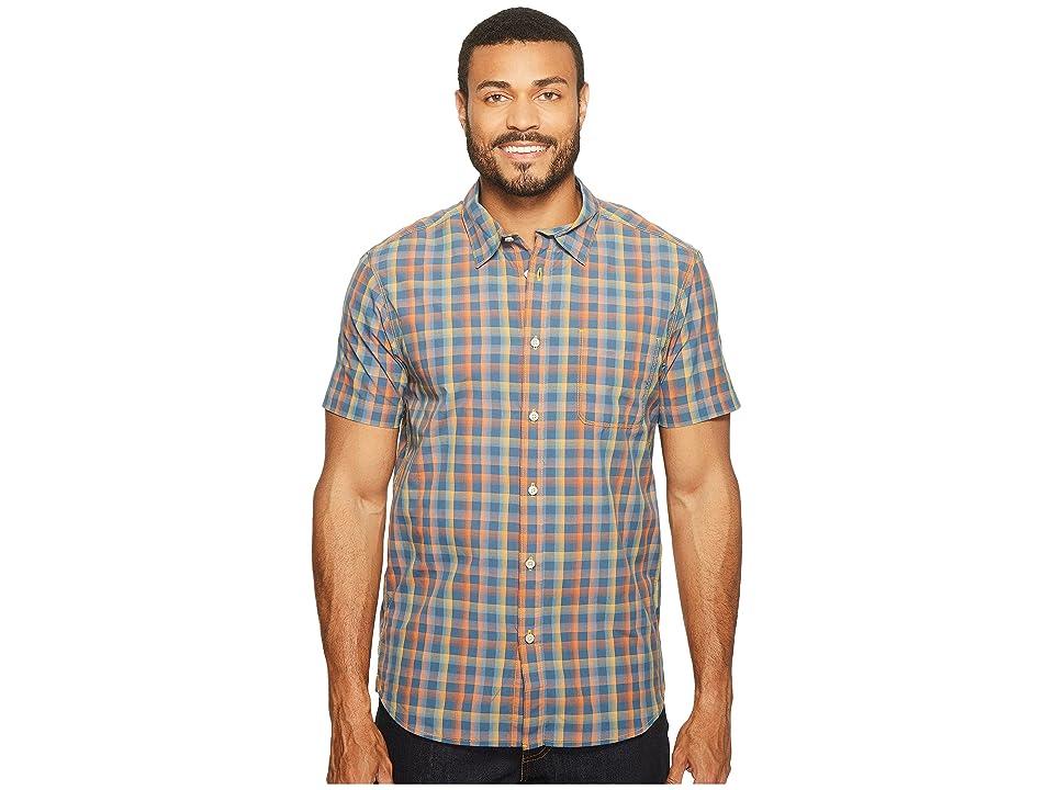 The North Face Short Sleeve Getaway Shirt (Zinnia Orange Plaid (Prior Season)) Men