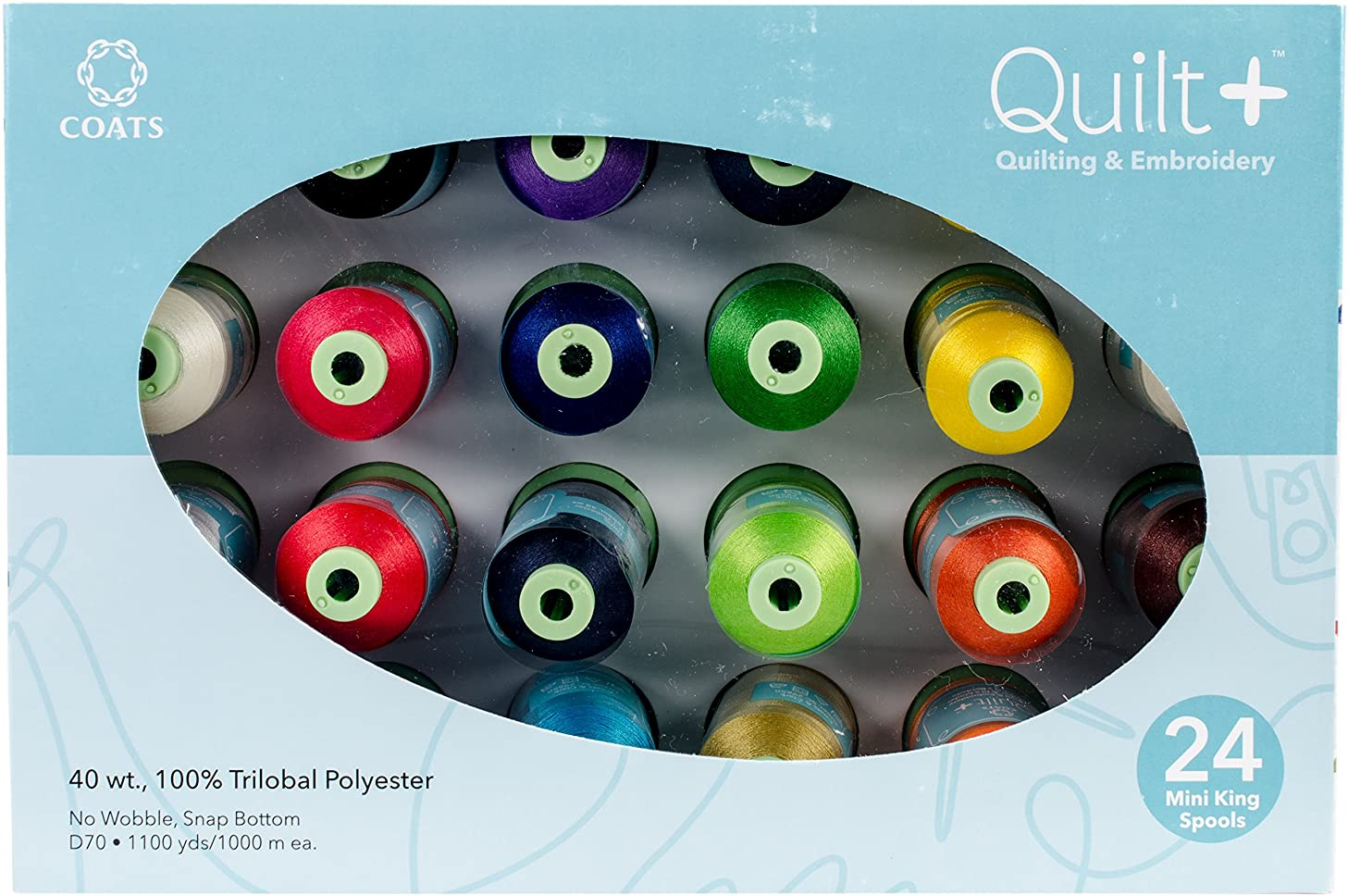 Coats Quilting & Machine Assortment Embroidery Thread