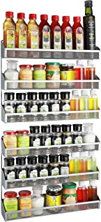 Simple Trending Spice Rack Wall Mount,Door Spice Rack Organizer,Silver 3 Tier Sliver