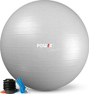 POWRX Gym Ball inkl. Ball Pump and Workout I Sitting Ball Pilates Yoga Ball Anti-Burst Olika storlekar 55, 65, 75, 85, 95 ...
