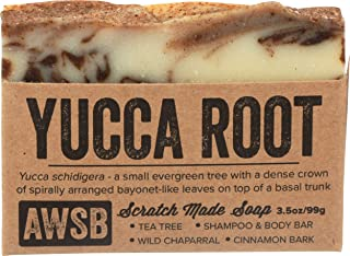 Yucca Root Shampoo & Body Bar Soap with Tea Tree Oil, Vegan, All Natural with Organic Ingredients, Handmade by A Wild Soap...